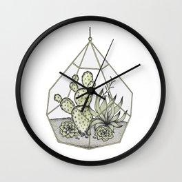 Succulent Terrarium Wall Clock