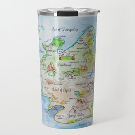 Map of the Faerie Realm Travel Mug