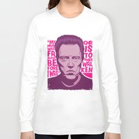 christopher walken Long Sleeve T-shirts featuring Christopher Walken by Mike Wrobel