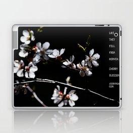 Sakura flowers on black 02 Laptop & iPad Skin