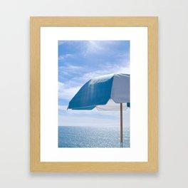 Malibu Umbrella Framed Art Print