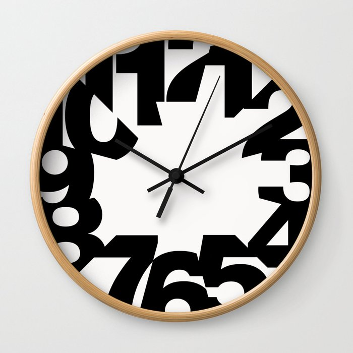 Big Time - White Wall Clock