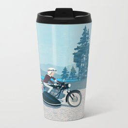 The Blue Lake Metal Travel Mug