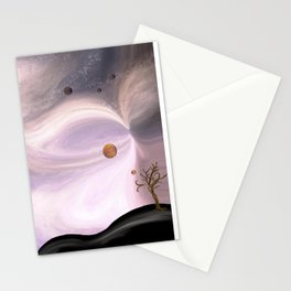 Pink Galactic Swirls Stationery Cards