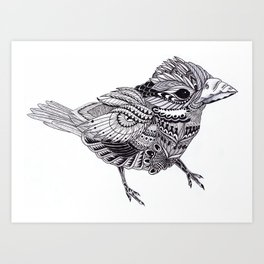 Ornate Bird Art Print