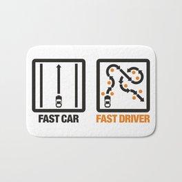 Fast Car - Fast Driver v1 HQvector Bath Mat