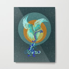 New Water Phoenix Metal Print