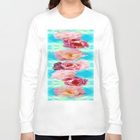 peonies Long Sleeve T-shirts featuring PEONIES  by AlyZen Moonshadow