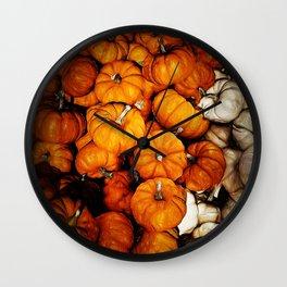 Tiny Pumpkins Pile Wall Clock