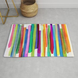 Colorful Stripes 1 Rug