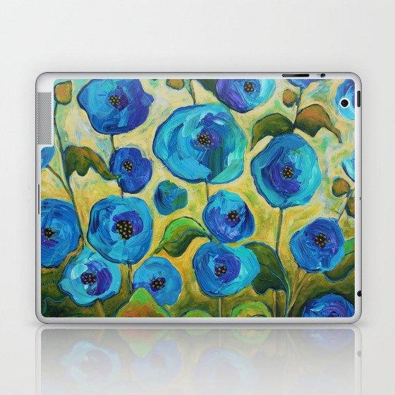 Peacock Hollyhocks Laptop & iPad Skin