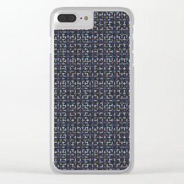 Criss Cross Weave Hand Drawn Black Vector Clear iPhone Case