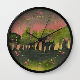 The Woods I Pink Wall Clock
