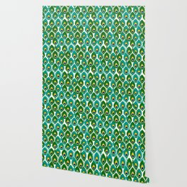 Abstract Peacock Pattern Wallpaper