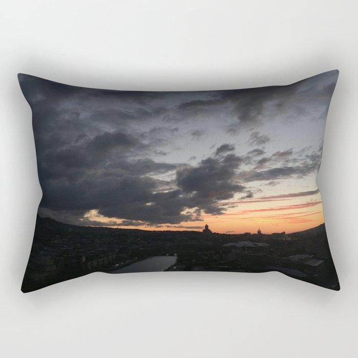 Sunrise in Georgia // #TravelSeries Rectangular Pillow