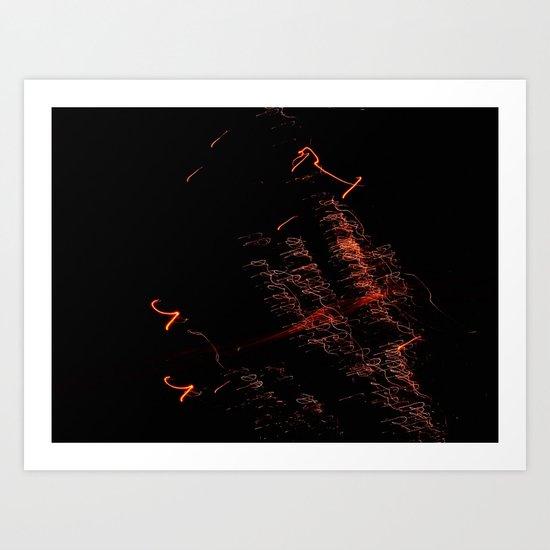 Bright Night Lights 4 Art Print