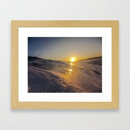Sunset From The Water Framed Art Print