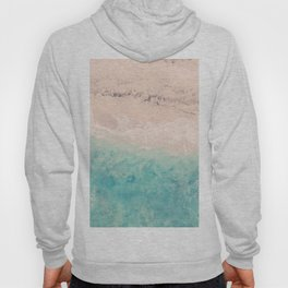 Aerial sea photography, exotic beach, fine art, wanderlust, coral reef, tropical landscape, summer Hoody