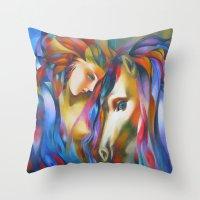 ruben Throw Pillows featuring Ruben 0 by  Alexandra's Collection