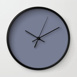 Dunn & Edwards 2019 Trending Colors Your Shadow (Purplish Gray) DE5921 Solid Color Wall Clock