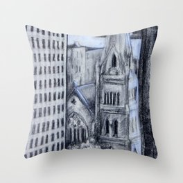 Church in Center City, Philadelphia Throw Pillow