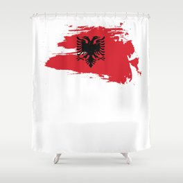 Albanian Eagle Flag Gift Shower Curtain