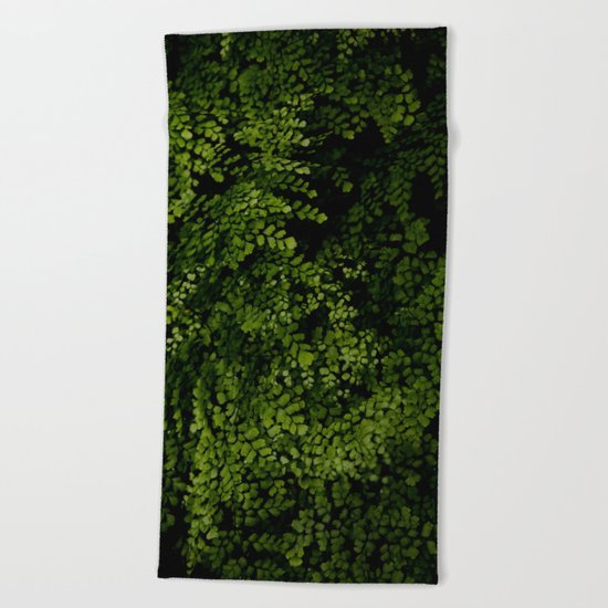 Small leaves Beach Towel