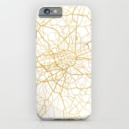 LONDON ENGLAND CITY STREET MAP ART iPhone Case