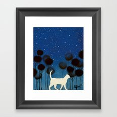 THE POETRY OF A NIGHT by Raphaël Vavasseur Framed Art Print