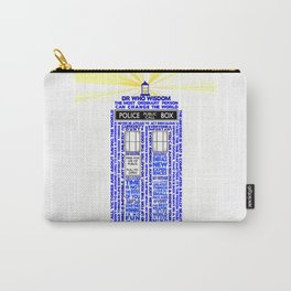 Doctor Who TARDIS Words of Wisdom Carry-All Pouch