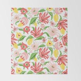 Island Garden Floral Throw Blanket
