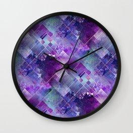 Marbleized Amethyst Wall Clock