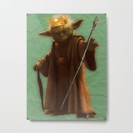 Corrupted Wizard Yoda Metal Print