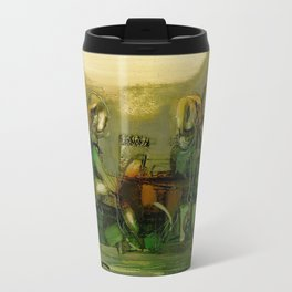 The Bremen Town Musicians, Abstract oil Painting Travel Mug