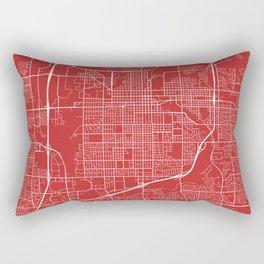 Sioux Falls Map, USA - Red Rectangular Pillow