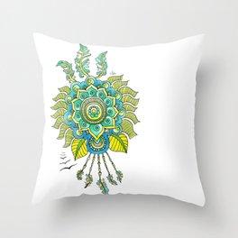 Dreamy Mandala Throw Pillow