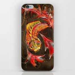 Fire Koi iPhone Skin