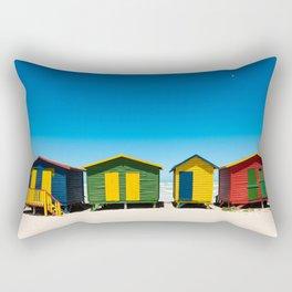 Hightech beach huts Rectangular Pillow