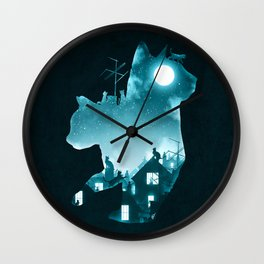 Under the Moon Wall Clock