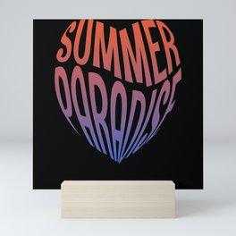 Summer Paradise Heart Mini Art Print