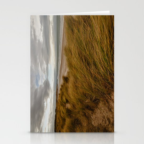 Bamburgh Beach Stationery Cards