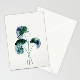 Water lily leaves Stationery Cards