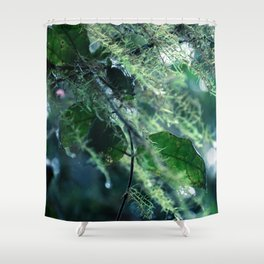 Leaves in Morning Dew Shower Curtain