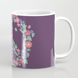Peace. Floral wreath Coffee Mug