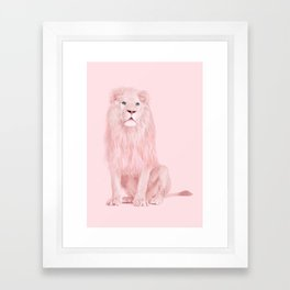 ALBINO LION Framed Art Print