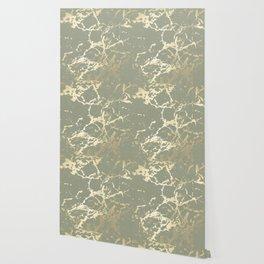 Kintsugi Ceramic Gold on Green Tea Wallpaper