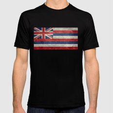State flag of Hawaii - Vintage version Black Mens Fitted Tee LARGE