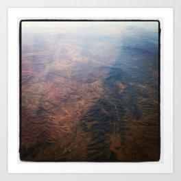 MARS IN MEXICO 2 Art Print