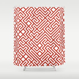 10 Print: Bold Red Shower Curtain
