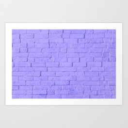 Purple Brick Art Print